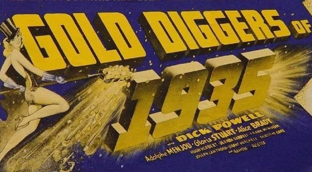 """Gold Diggers of 1935."" Detail from movie poster."