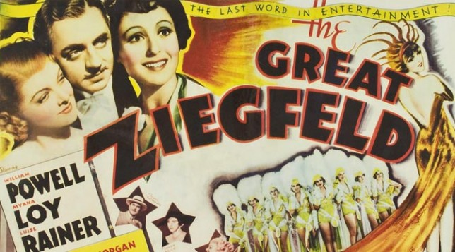 """The Great Ziegfeld"" featured image. Detail from original movie poster."