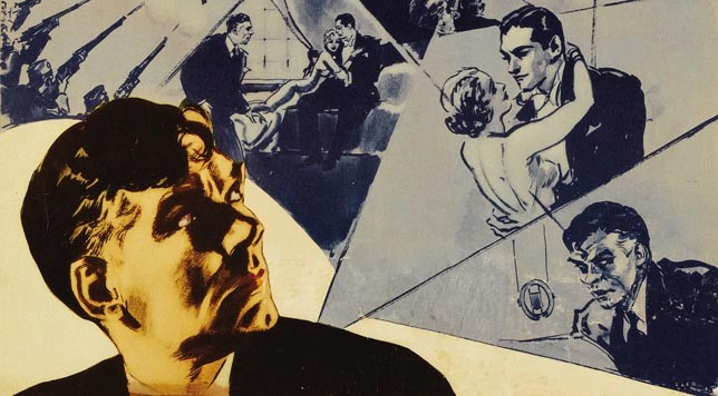 """Gabriel over the White House"" featured image. Detail from original movie poster."
