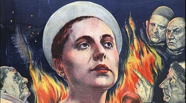 """The Passion of Joan of Arc."" Detail from original movie poster."