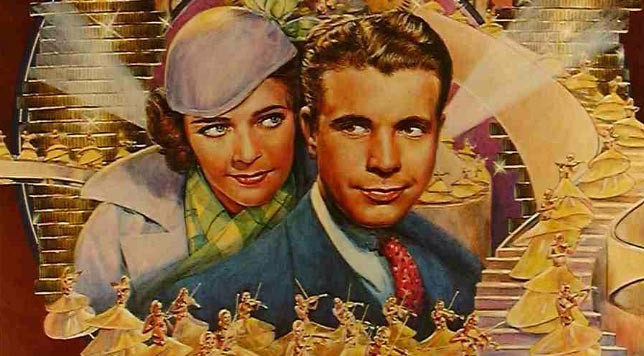 """Gold Diggers of 1933."" Detail from original movie poster."