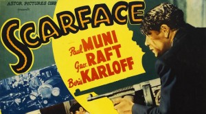 "Detail from Movie Poster for the Film ""Scarface"""